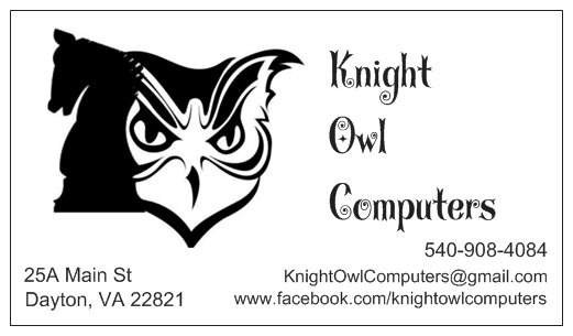 Knight Owl Computers Business Cards